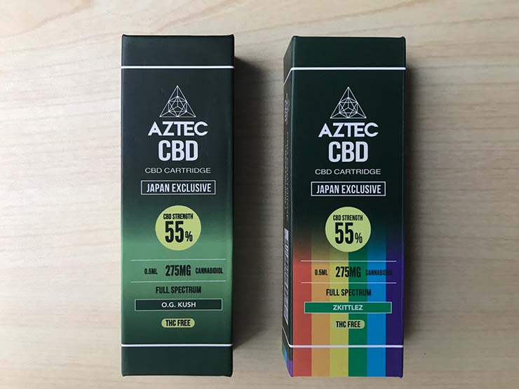 Aztec(アステカ) フルスペクトラム55%CBDカートリッジ 【O.G.KUSH / ZKITTLEZ】