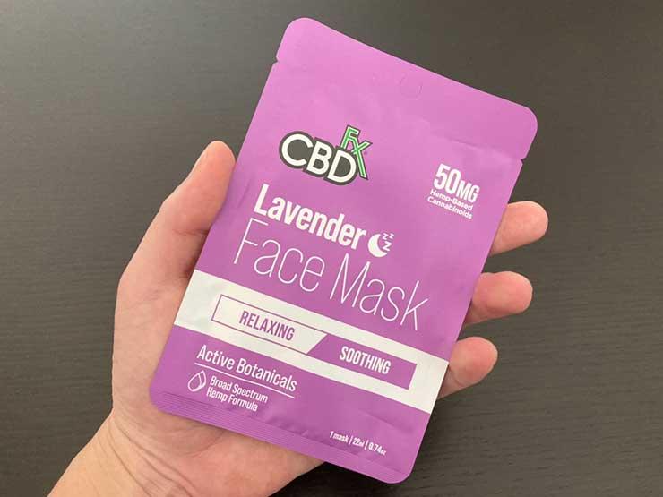 【CBDフェイスマスク】CBDfx ラベンダー を実際に使った効果レビュー